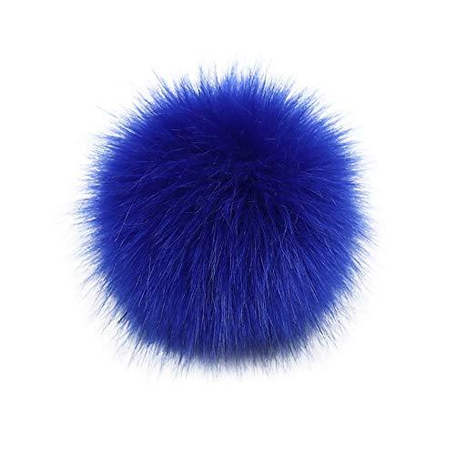 10cm Fellbommel Faux, DIY Pompon Kunstfell Faux Kunstpelz Pom Pom Ball Kunstfellbommel für Mützen und Beanies, Künstlicher Haarball Nachahmung Fuchs Waschbär Haarkugel (K)