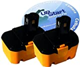 2-Pack Ryobi 14.4V Battery Replacement - Compatible with Ryobi 130224010, RY6200, 1314702, 1400144, 1400656, 1400671, HP1442M, FL1400, HP1441M, 130224011, 130281002, 1400655, 4400011, CTH1442, CTH1442K2, HP1441 (1300mAh, NICD)