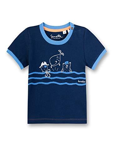 Sanetta Baby-Jungen T-Shirt, Blau (Blau 50178), 74 (Herstellergröße: 074)
