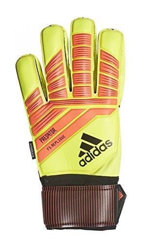 adidas Predator Fingersave Replique - Guantes de Portero, Todo el año, Unisex Adulto, Color Solar Yellow/Solar Red/Black, tamaño 11