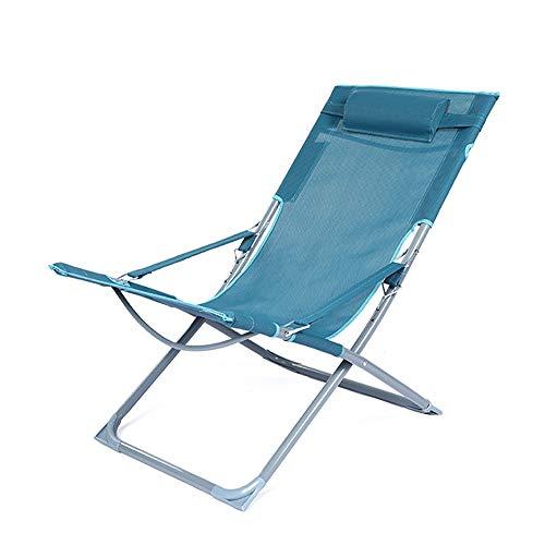 KOIUJ Salón chairFoldable Tumbona, portátil de pequeño tamaño reclinable, con Respaldo Año, Capacidad de Carga 200 Kg, utilizadas for el hogar Jardín, Terraza
