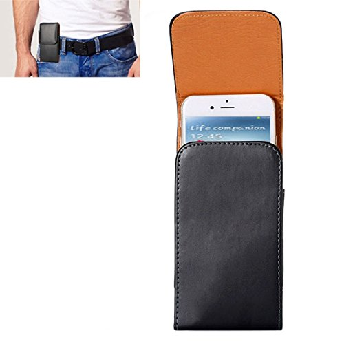 ZAORUN Cubiertas Protectoras de Cellphone Funda de Cuero de Flip Vertical de Textura de Caballo Loco/Bolso de Cintura con tablilla Trasera Compatible for Samsung Galaxy S4 / i9500