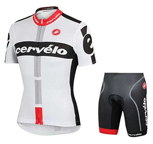 Men's Cycling Jersey Set Bike Jersey Bicycle Summer Breathability Short Sleeve Suit C113 (Z, M)