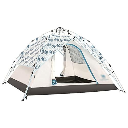 LYLY Tienda 3-4 Persona Camping Camping Camping Automático Coloque Dual Impermeable Anti UV Tiendas de Turística para Senderismo al Aire Libre Viajes de Playa (Color : A)