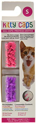 Kitty Caps Nail Caps for Cats | Safe, Stylish & Humane Alternative to Declawing | Covers Cat Claws,...