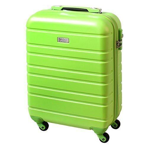 Equipaje de mano maleta rígida de viaje TSA Castillo Maleta con ruedas 30 Litros Verde 815 B