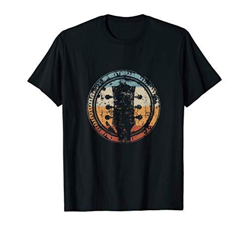 Vintage Gitarre Kopf Icon Geschenk für Gitarrist T-Shirt