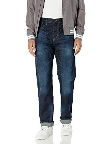 Calvin Klein Men's Relaxed Straight Fit Jeans, Deep Water, 32Wx34L