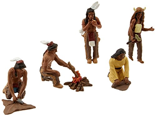 Woodland Scenics SP4443 1.5-Inch Scene Setters Figurine, Native Americans, 5/Pack