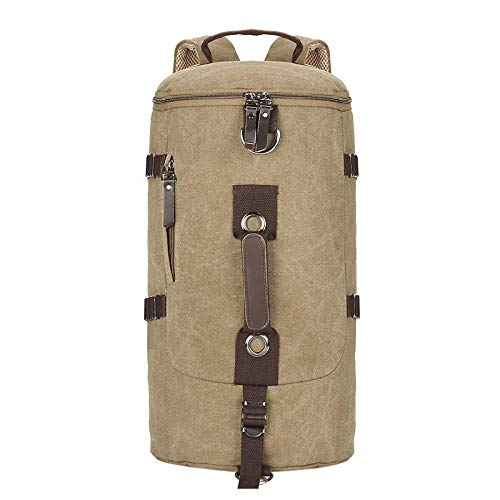 Fslt Men's Travel Bag Rucksack Mountaineering Mountain Bag Sports Backpack Bike Backpack Outdoor Shoulder Bag-Khaki