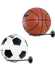 2 Stks Wall-Mounted Ball Rack Display Rack Home Opbergrek, Gebruikt Voor Basketbal, Voetbal, Volleybal, Fitness Balls