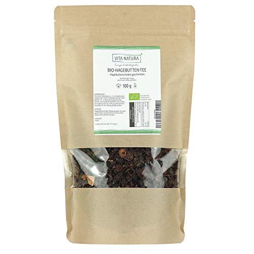 Vita Natura Hagebutten Tee, Traditioneller Kräutertee, Bio, 1er Pack (1 x 100 g)