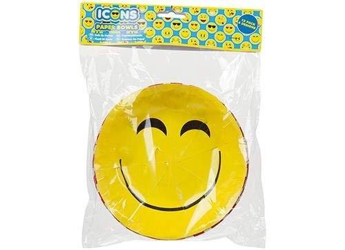 Emoji Paper Bowls, Pack of 12
