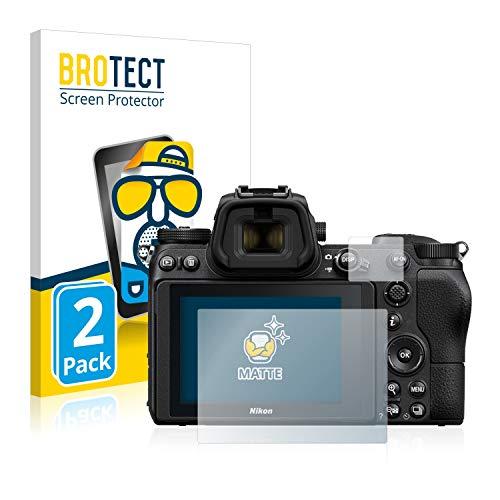 BROTECT 2X Entspiegelungs-Schutzfolie kompatibel mit Nikon Z 6 / Z 7 Bildschirmschutz-Folie Matt, Anti-Reflex, Anti-Fingerprint