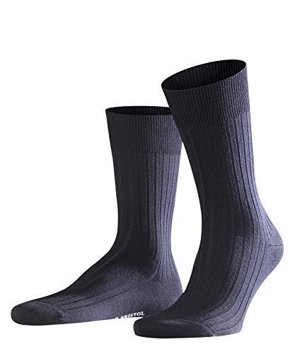 FALKE Herren Socken Bristol Pure, Schurwolle, 1 Paar, Blau (Dark Navy 6370), 39-40 (UK 5.5-6.5 Ι US 6.5-7.5)