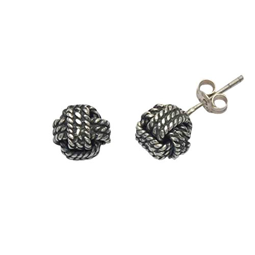 Sterling Silver Sailors Knot Stud Earrings