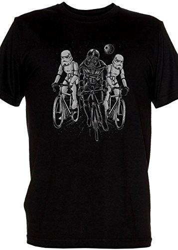 Original Retro Mens black Shirt - Imperial Tour De France Dark Star Storm Troopers And Darth Mens Medium