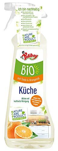 Poliboy - Bio Küchenreiniger mit Sprühmatic - Aktive und kraftvolle Reinigung mit Seifenschaum für die ganze Küche - Vegan - 500 ml - Made in Germany