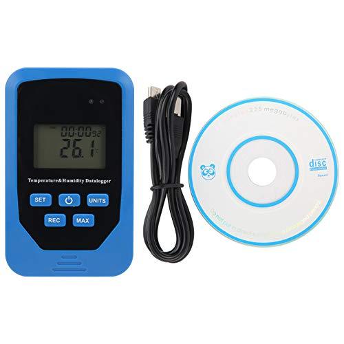 Registrador de humedad Registrador de temperatura Termómetro para habitación Invernadero Blanco Interruptor...
