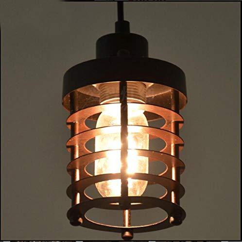 5151BuyWorld Lamp Pays Wind Loft Industriel Nordique Américain Cord Suspension Droplight Edison Fer Vintage Pendentif Éclairage Qualité Supérieure {Couleur Noire}