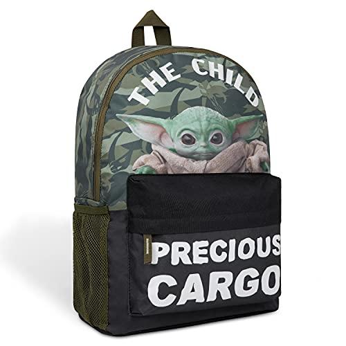 Disney Mochilas Escolares de The Mandalorian, Mochila escolar Adolescente y Niño de Baby Yoda, Star Wars Regalos