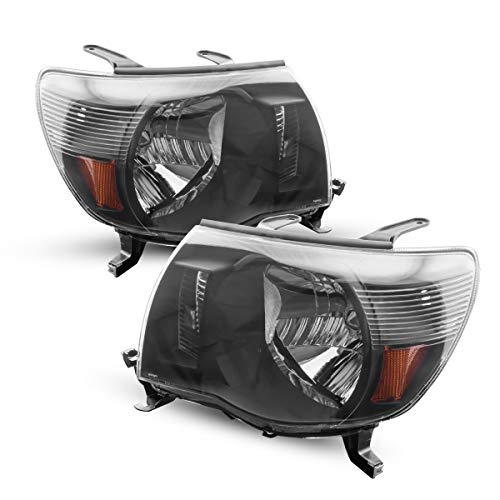 KAC Headlight Housing for Replacement Headlight Assembly for Tacoma, OE# 8115004173/8111004173, Black