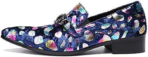 LOVDRAM zapatos De Cuero para Hombre zapatos De Vestir para Hombre De Cuero Italiano Vintage Metal Punta Estrecha Chaussure Homme De Lujo para Hombre Fiesta Formal zapatos De Los Planos