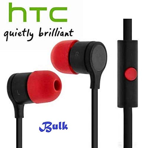 HTC Original Headset RC-E295 in Schwarz Rot für One M9 InEar In-Ear Kopfhörer Ohrhörer Ohrstöpsel 3,5mm Stecker Stereo Sound Bulk verpackt