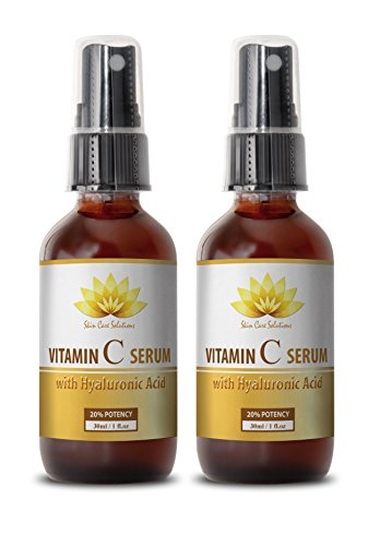 Face skin care products - VITAMIN C SERUM With Hyaluronic Acid - Wrinkles on face - 2 bottles