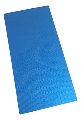 Colchonete Eva Tapete Yoga Exercícios 100cm x 50cm x 20mm Azul Royal