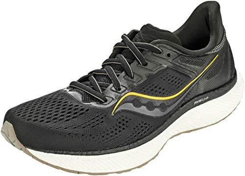 Saucony Men's Hurricane 23 Running Shoe, Black/Gold, 10