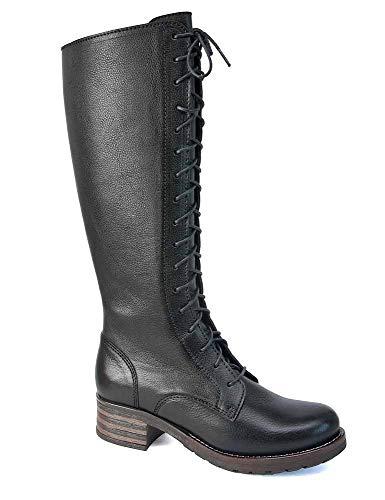 Brako Langschaft Stiefel Boots 8430 Traviata Negro Military Leder schwarz (36 EU)