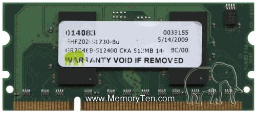 CC416A, CE483A 512MB Hewlett Packard Laserjet 3rd Party Memory Upgrade SODIMM by Gigaram