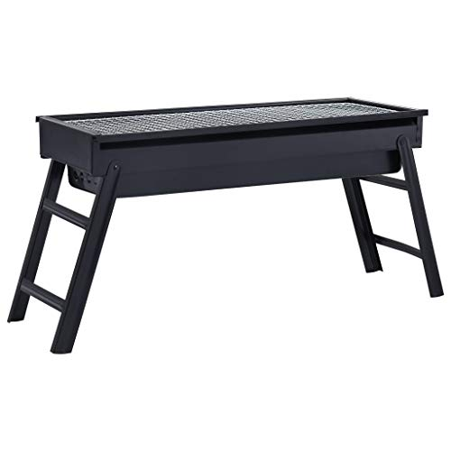 Tragbarer Camping-Grill Stahl 60×22,5×33 cm