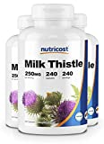 Nutricost Milk Thistle 250mg, 240 Capsules (3 Bottles)