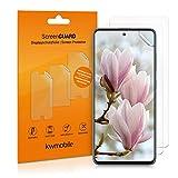 kwmobile 3x pellicola salvaschermo compatibile con Samsung Galaxy A51 - Film protettivo proteggi telefono - protezione antigraffio display smartphone