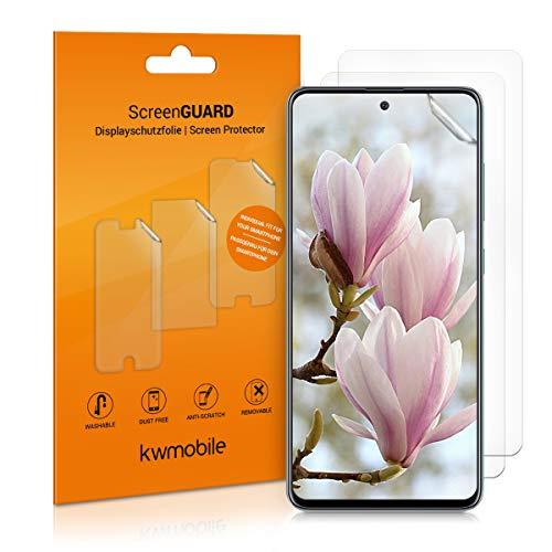 kwmobile 3x pellicola salvaschermo compatibile con Samsung Galaxy A51 - Film protettivo proteggi telefono - protezione antigraffio Pellicola display smartphone