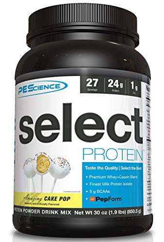 PEScience Select Low Carb Protein Powder, Cake Pop, 27 Serving, Keto Friendly and Gluten Free