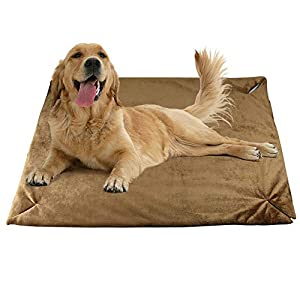 YUNNARL Dog Crate Pad Warm Comfortable Dog Bed Crate Mat Anti Slip Mattress Dog Crate Bed Machine Washable Pet Crate Pad for Large Medium Small Pets Sleeping Ultra Soft Pet Beds Brown