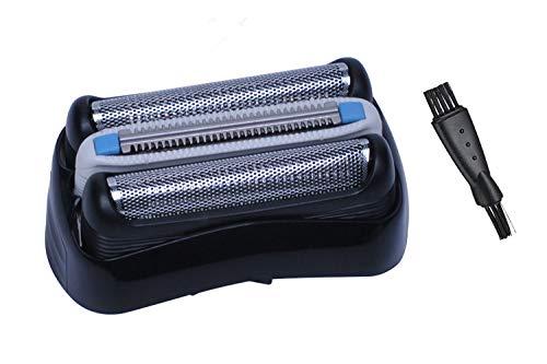 32B Cabezales de Afeitado para Bra-un Afeitadora Eléctrica Hombre con Cepillo de Limpieza, Láminas de Recambio Poweka para Bra-un Series 3 320 330 340 350CC 370CC 390CC (Mejoramiento)