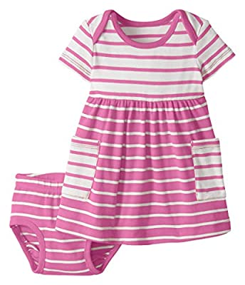 Hanna Andersson Bright Baby Basics Dress in Organic Cotton Power Pink - 60
