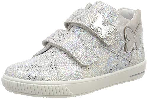 Superfit Baby Mädchen Moppy Sneaker, Weiß (Weiß 10), 24 EU