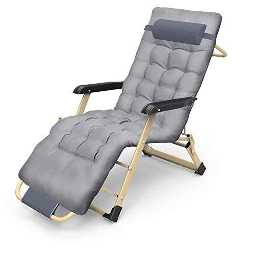 RTOFO Reclinador Ajustable con reposacabezas, reclinable Plegable, reclinable reclinable de Ocio reclinable, sillón Plegable Acolchado, Peso máximo 180 kg-
