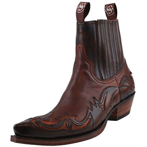 Sendra Stiefelette 4660 Braun, Schuhgröße:EUR 43