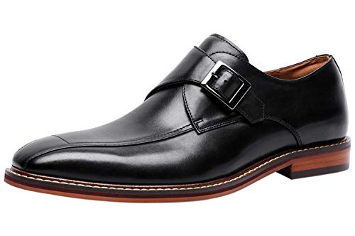 Zapatos de Vestir Hombre Piel Derby sin Cordones Monk Hebilla Elegantes Oxford...