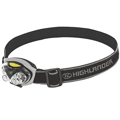 Highlander Spark 4+2 LED Tête de la Torche Noir Argent