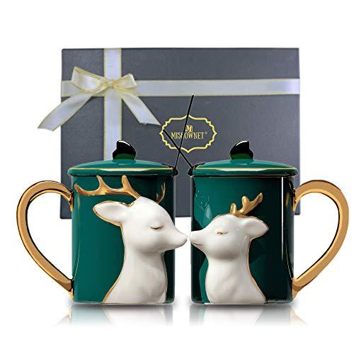 Mr & Mrs Kaffeebecher – Hochzeitsgeschenk – Mr & Mrs Tassen Set – für Braut und Bräutigam – Geschenk für Brautparty Verlobung Hochzeit und Ehepaare Jahrestag Keramiktasse (Tassen Set 1)