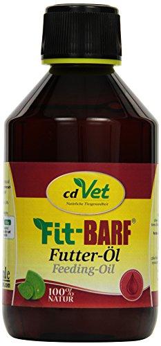 cdVet Naturprodukte Fit-Barf Futter-Öl 250 ml - Hund&Katze -Leinöl - Versorgung mit essentiellen Fettsäuren - hochwertige Pflanzenöle - kaltgepresst - Energiespender - Rohfütterung - BARFEN -