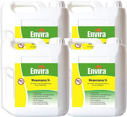 Envira Wespen-Spray - Anti-Wespen-Mittel Mit Langzeitwirkung - Geruchlos & Auf Wasserbasis - 4x5Ltr