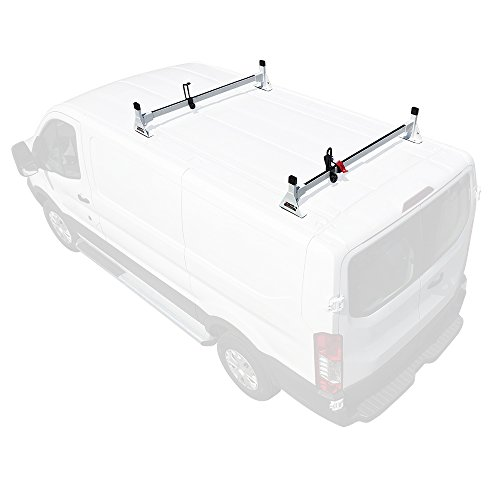 Vantech 2 bar Rack Low Profile 54' Bars Steel Black Compatible with Ford Transit (Cargo) 2015-On